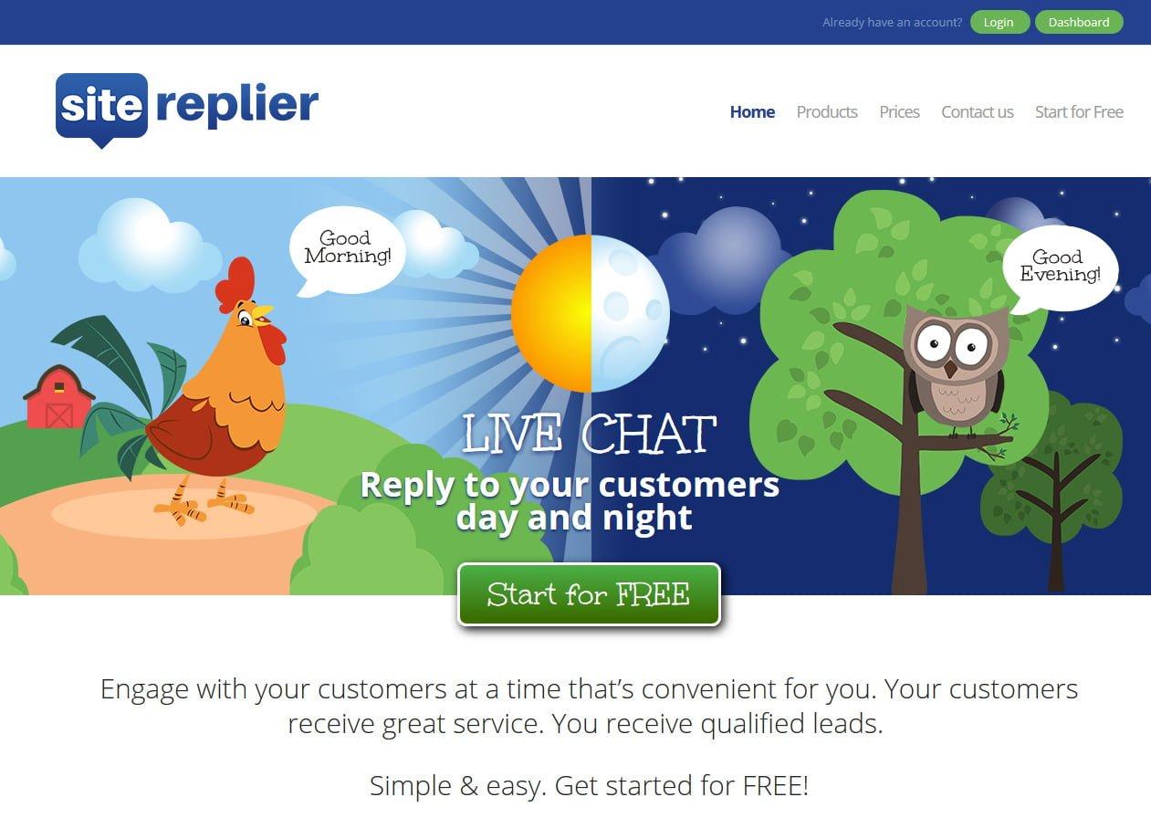 Chat website design