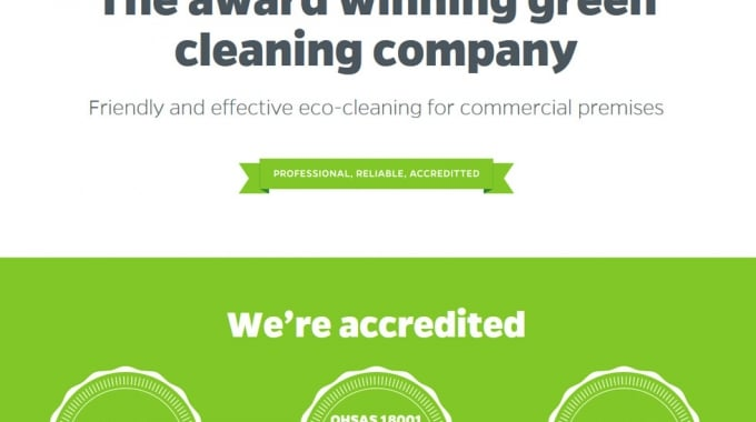 New WordPress Website For Green Cleaning Company