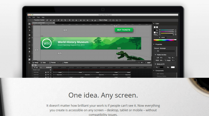 New Google Web Designer For Creating Animated Adword Banners