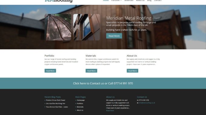 MM Roofing WordPress Website