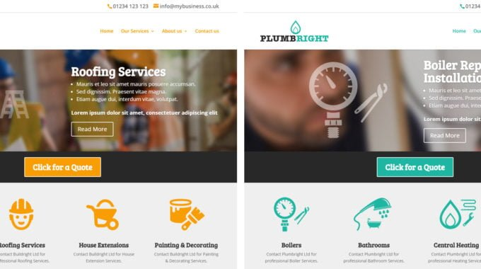 Builders And Plumbers Website Templates