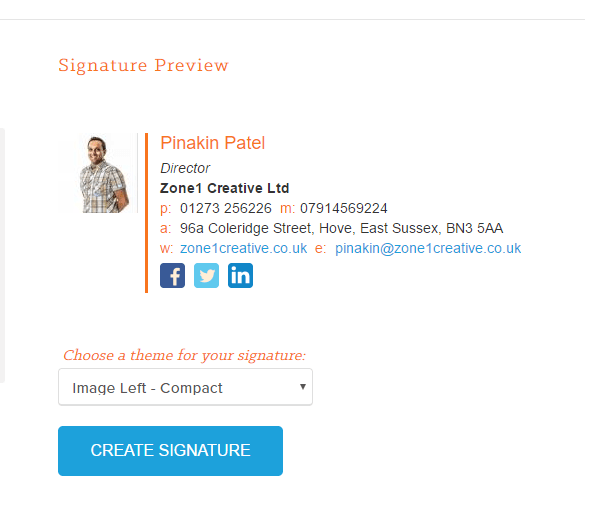 Loving this new Email Signature Generator from Hubspot